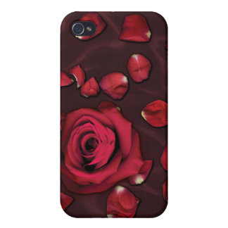 Love Absolute - Red Rose and Petals iPhone 4/4S Case