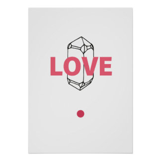 Love - abstract Crytal Art Poster
