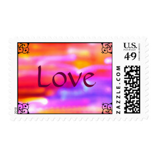 Love  Abstract Postage Stamp
