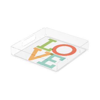 LOVE acrylic serving tray Square Serving Trays