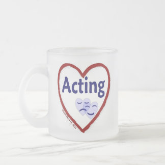 Love Acting Frosted Glass Coffee Mug