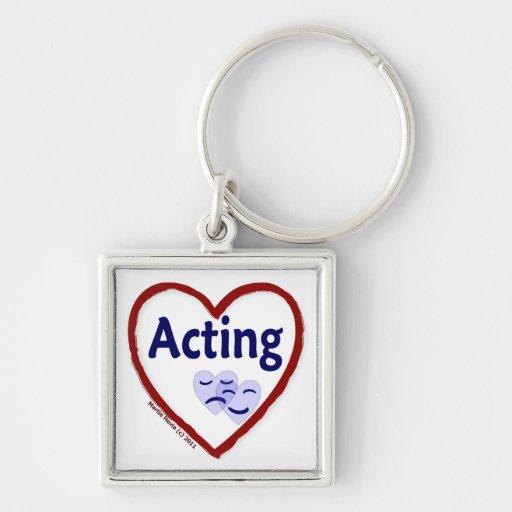 Love Acting Keychain