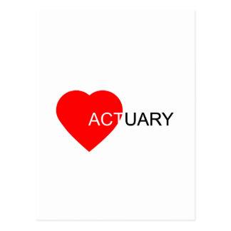 Love Actuary Postcard
