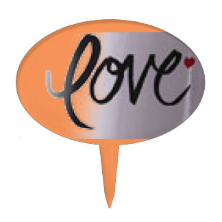 Love Add a special touch to your favorite dessert Cake Topper