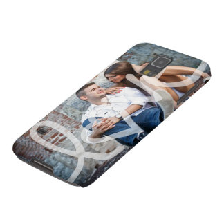 """love"" add your photo galaxy s5 covers"