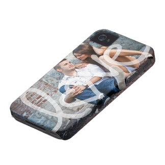 """love"" add your photo iPhone 4 cover"