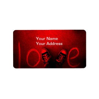 love address label
