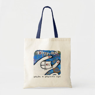 Love, Adopt Shelter Cats Canvas Bags