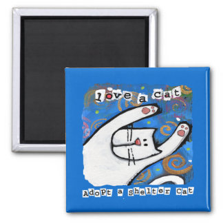 Love, Adopt Shelter Cats Magnet