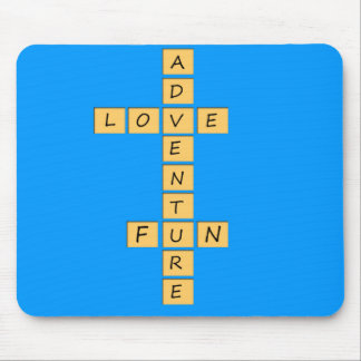 Love adventure fun mouse pad