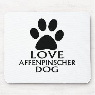 LOVE AFFENPINSCHER DOG DESIGNS MOUSE PAD