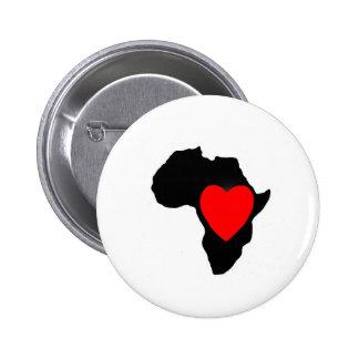 LOVE Africa Button, Africa, Button, 2 Inch Round Button