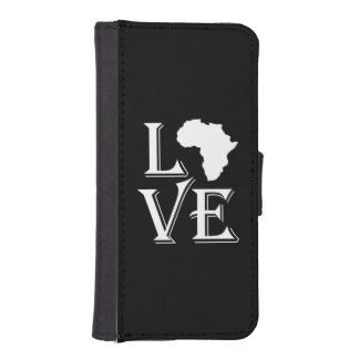 Love Africa Continent Map Wallet Phone Case For iPhone SE/5/5s