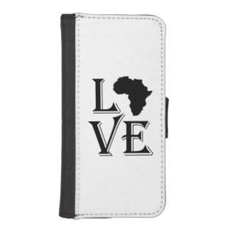 Love Africa Continent Wallet Phone Case For iPhone SE/5/5s