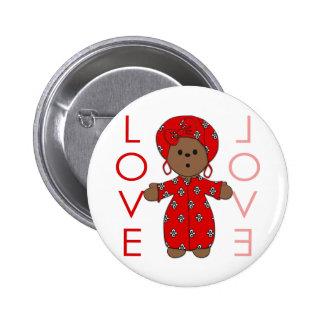 Love - African Doll 2 Inch Round Button