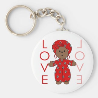 Love - African Doll Keychain