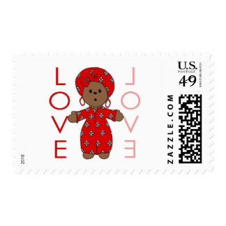 Love - African Doll Postage Stamps