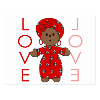 Love - African Doll Postcard