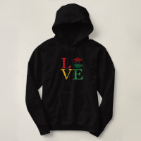 LOVE Afrocentric Lips Hoodie