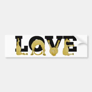 LOVE agile pony Bumper Sticker