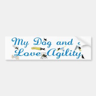 Love Agility Car Bumper Sticker