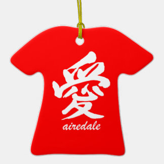 love airedale Double-Sided T-Shirt ceramic christmas ornament