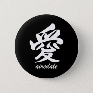 Love Airedale Pinback Button