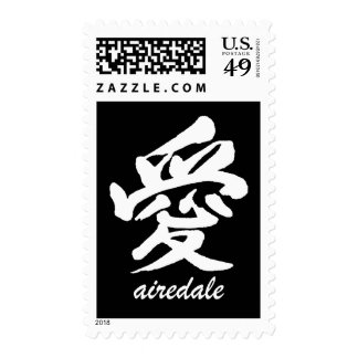 Love Airedale Postage