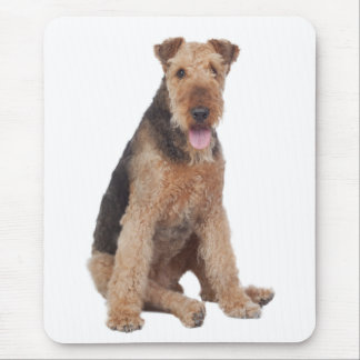 Love Airedale Terrier Puppy Dog Mousepad