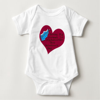 LOVE AIRMAN AFGHAN VAL DAY BABY BODYSUIT