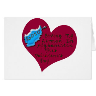 LOVE AIRMAN AFGHAN VAL DAY GREETING CARD