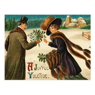 Love -Ajoyful yuletide -vintage christmas postcard