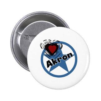 Love Akron Pin