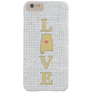 LOVE Alabama State Map moveable heart Barely There iPhone 6 Plus Case