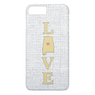 LOVE Alabama State Map moveable heart iPhone 7 Plus Case