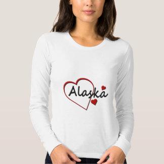Love Alaska Hearts Ladies Long Sleeve T-shirt