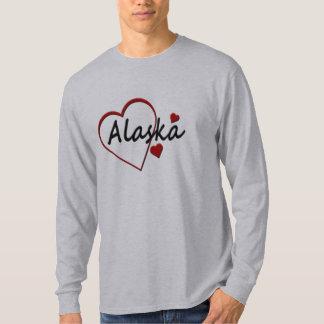 Love Alaska Hearts Mens Long Sleeve T-shirt