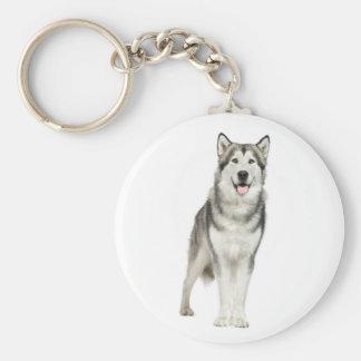 Love Alaskan Malamute Puppy Dog Keychain
