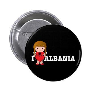 Love Albania Pins