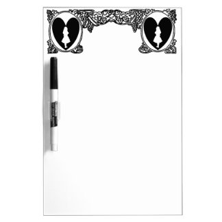 Love Alice Vintage Frame Black Dry Erase Board