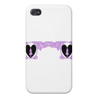 Love Alice Vintage Frame in Lavender Cases For iPhone 4