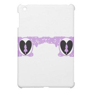 Love Alice Vintage Frame in Lavender iPad Mini Cover