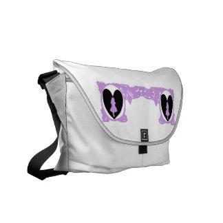Love Alice Vintage Frame in Lavender Messenger Bag