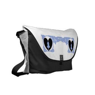 Love Alice Vintage Frame in Light Lilac Messenger Bag