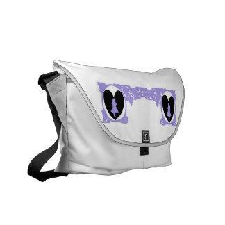 Love Alice Vintage Frame in Lilac Lavender Courier Bag