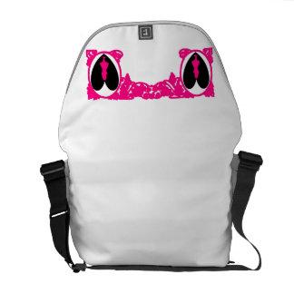 Love Alice Vintage Frame in Magenta Pink Messenger Bag
