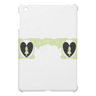 Love Alice Vintage Frame in Pale Olive iPad Mini Cover