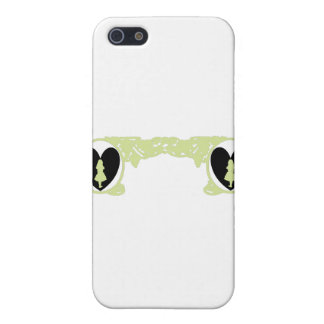 Love Alice Vintage Frame in Pale Olive iPhone SE/5/5s Cover
