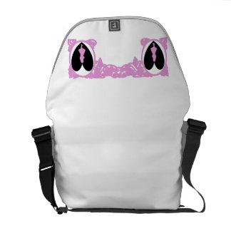 Love Alice Vintage Frame in Pale Pink Courier Bag