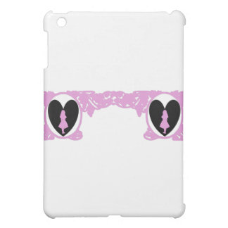 Love Alice Vintage Frame in Pale Pink iPad Mini Covers